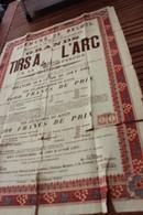 BELOEIL  TIRS A L ARC A LA PERCHE Kermesse Du Dimanche 19 Lundi 20 Aout  1894 Societe St Sebastien   60cm/85cm - Affiches