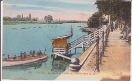 CPA - 424. VICHY - Les Quais De L'Allier Et L'embarcadère Du Golf - Vichy
