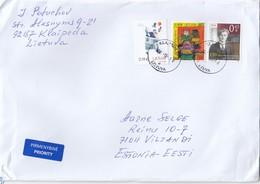 GOOD LITHUANIA Postal Cover To ESTONIA 2018 - Good Stamped: Art ; Grinius - Lithuania
