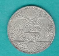 Morocco - Abd Al-Aziz - 10 Dirhams / Rial - AH1320 (1903) - London - KMY22.1 - Maroc