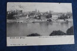 1892          PRAGUE   CARTE  POSTALE  POUR  PARIS        2  PHOTOS - Tchécoslovaquie