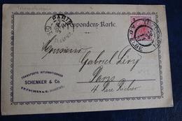1897         TETSCHEN   CARTE  POSTALE  POUR  PARIS        2  PHOTOS - Tchécoslovaquie