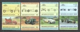Grenadines Of St Vincent 1985 Mi 389-396 MNH CARS AUTO - Cars