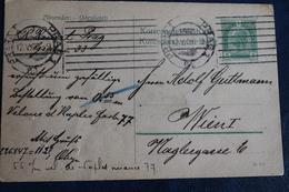 1908           ENTIER    POSTAL   DE  5   KR    DE  PRAGUE  POUR  VIENNE - Tchécoslovaquie
