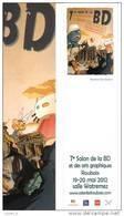 """QUALIZZA  -  Marque-pages   -   """"Salon BD De Roubaix 2012""""  (Astérix, Schtroumpfs...) - Bookmarks"""