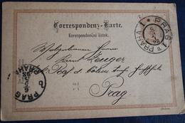 1898           ENTIER    POSTAL   DE  2   KR    DE  PRAGUE  POUR  PRAGUE    2   PHOTOS - Tchécoslovaquie