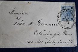 1901        ENVELOPPE    DE  PRAGUE  POUR  COLOMBES - Tchécoslovaquie