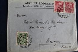 1908        ENVELOPPE    DE  PRAGUE  POUR  LIMOGES - Tchécoslovaquie