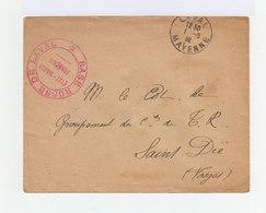 Sur Enveloppe Cachet Base Russe De Laval. Etat Major Français. CAD Laval 1918. FM. (988) - Guerre De 1914-18