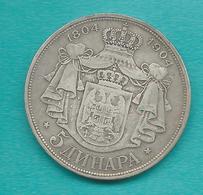 Serbia - Peter I - 1904 - Centennial Of Karadordevic Dynasty - 5 Dinara - KM27 - Servië