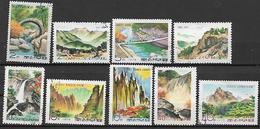 COREA DEL NORD 1974 MONTAGNE YVERT. 1106-1114 USATA VF - Corea Del Nord