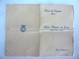 "Cartoncino Invito ""CASA DE ESPANA Roma  GRAN VELADA DE GALA 2 Dicembre 1933"" - Partecipazioni"