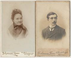 2 X CDV Duhameeuw - Jacco Ieper. Carte De Visite. - Ancianas (antes De 1900)