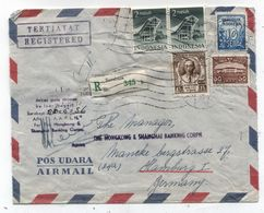 Indonesia REGISTERED AIRMAIL COVER TO Germany 1956 - Indonesia