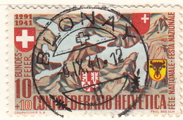 Oblitération Ronde, Pleine /  Blonay 6.9.1941 S/ PP 13, Mi. 396 - Storia Postale