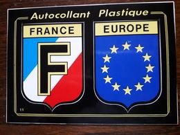 Carte Autocollant. France Europe - Postcards