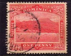 DOMINICA 1903 ROSEAU CAPITAL CAPITALE ONE 1p USATO USED OBLITERE' - Dominica (1978-...)