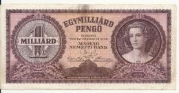 HONGRIE 1 MILLIARD PENGO 1946 VF P 125 - Hongrie