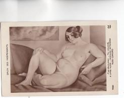 SALON Des INDEPENDANTS - NU FEMININ - NU Couché Par P. DE VAUCLEROY - AN Paris N°4550 - CARTE RARE - - Peintures & Tableaux