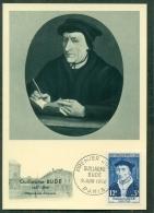 CM-Carte Maximum Card # 1956-FRANCE # Célébrités # Guillaume Budé ,Humansiste,Gelehrte,humanist  # Paris - Maximumkarten