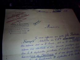 Vieux Papier  Lettre Manuscrite  SNCF Po Midi Exploitation Commune Des Reseaux D Orleans Et Du Midi Annee 1933 - Banque & Assurance