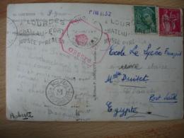 Censor Ship Censorship Dep  Cachet Censure Lettre De  Lourdes Pour Port Said - Marcophilie (Lettres)