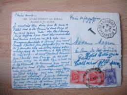 Lettre Taxee  3 Timbre Gerbes Gerbes Paire De 10 F Et 4 F  Obliteration Horodateur Talloires - Marcophilie (Lettres)