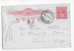 AUSTRALIA - 1917 - CARTE ENTIER ILLUSTREE De BRISBANE => VERGIGNY (YONNE) - Entiers Postaux