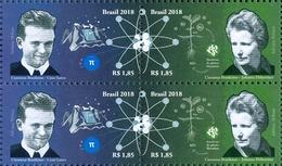 BRAZIL 2018  -  BRAZILIAN SCIENTISTS  - CESAR LATTES / JOANNA DÖBEREINER  -  2v  - Blk Of 4  -  MNH - Brazil