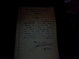 Vieux Papier  Lettre Manuscrite  SNCF Region Du Sud Ouest Annee 1945 - Banque & Assurance