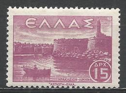 Greece 1942. Scott #440 (M) Candia Harbor, Crete * - Grèce
