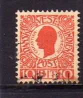 DANISH WEST INDIES DANSK-VESTINDISKE ANTILLE OLANDESI 1905 KING CHRISTIAN RE 10b USATO USED OBLITERE' - Denmark (West Indies)