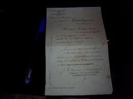 Vieux Papier    SNCFcommission Region Du Sud Ouest Annee 1944  Decision De  Mise En Retraite D Un Cheminot - Transports