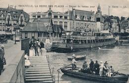 CPA - France - (14) Calvados - Trouville, La Reine Des Plages - Départ Du Bateau Pour Le Havre - Trouville
