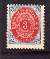 DANISH WEST INDIES DANSK-VESTINDISKE ANTILLE OLANDESI 1874 1879 NUMERAL CIFRA 3c MNH - Denmark (West Indies)