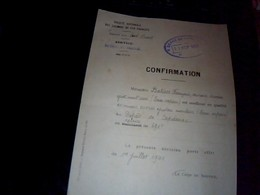 Vieux Papier  Genealogie  SNCF Region Du Sud Ouest Annee 1941confirmation Meilleur Ouvrier Ajusteur Materiel Et Traction - Transports