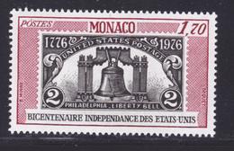 MONACO N° 1055 ** MNH Neuf Sans Charnière, TB (D8110) 200 Ans Indépendance Des USA - 1976 - Monaco