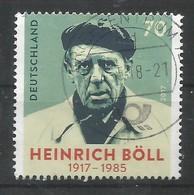BRD 2017 Mi.Nr. 3350 , Heinrich Böll - Gestempelt / Used / (o) - BRD