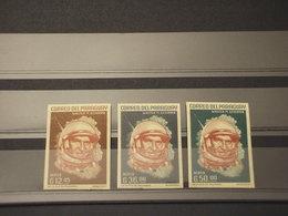 PARAGUAY - 1963 CAPSULA/SCHIRRA 3 VALORI ND COLORI CAMBIATI - NUOVI(++) - Paraguay