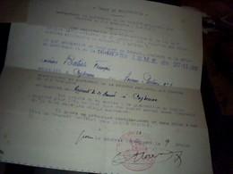 Vieux Papier  Militariat  Genealogie  SNCF  Annee 1938 Ordre De Requisition Militaire D Un Cheminot - Transports