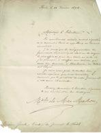 Lettre Du Maréchal Mac Mahon, Président De La République (17 FEVRIER 1874) - Handtekening