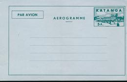 KATANGA 1962 ISSUE AIRLETTER STIBBE 3 UNUSED - Katanga