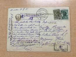 K6 Russia Russie USSR URSS 1935 AK Von Moskau Als Einschreiben!! Nach Soltau - 1923-1991 UdSSR