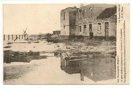 RAMSCAPELLE  (Belgique) La Gare Après Le Bombardement, L'incendie Et L'inondation. La Guerre 1915-15. - Nieuwpoort