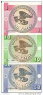 KIRGHIZSTAN 1-10-50 TYIYN UNC P 1-2-3 ( 3 Billets ) - Kirghizistan