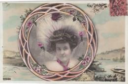 Portrait De Femmes Art Nouveau 1906 (lot Pat 32) - Frauen