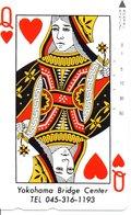 Jeu De Cartes Coeur Playing Card  Games  Bridge Karte Télécarte Japon (G 27) - Games