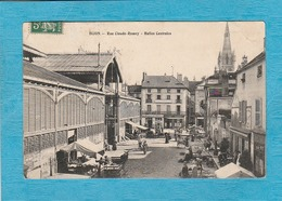Dijon, 1908. - Rue Claude-Ramey. - Halles Centrales. - Jour De Marché. - Café-Restaurant. - Dijon