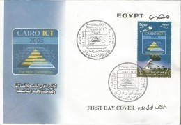 Egypt 2005 - First Day Cover - FDC Cairo ICT 2005 - Ninth International Conference For Information & Telecommunication - Egypt