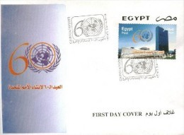 Egypt 2005 - First Day Cover - FDC United Nations 60 Anniversary - Egypt